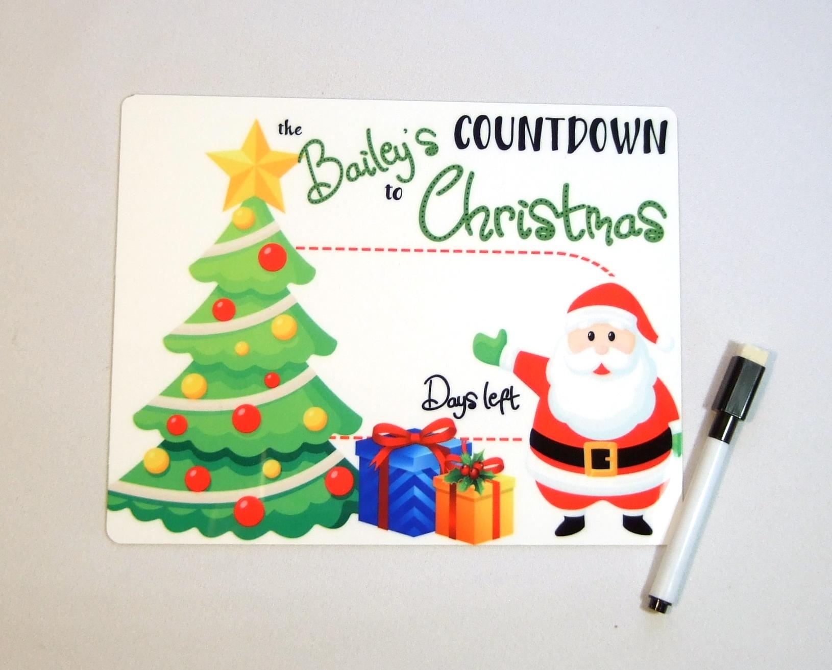 Countdown to Christmas Dry erase board DEB1010 7x9