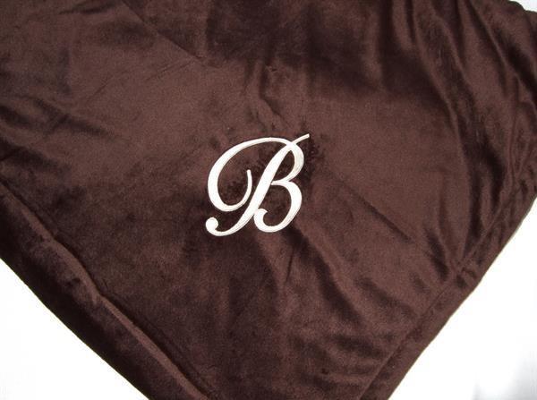 Personalized fireside brown fleece blanket  (BP40)