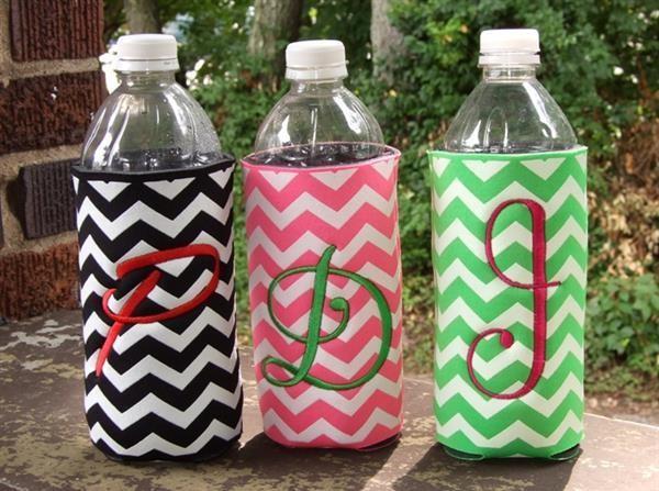 Personalized water bottle koozies