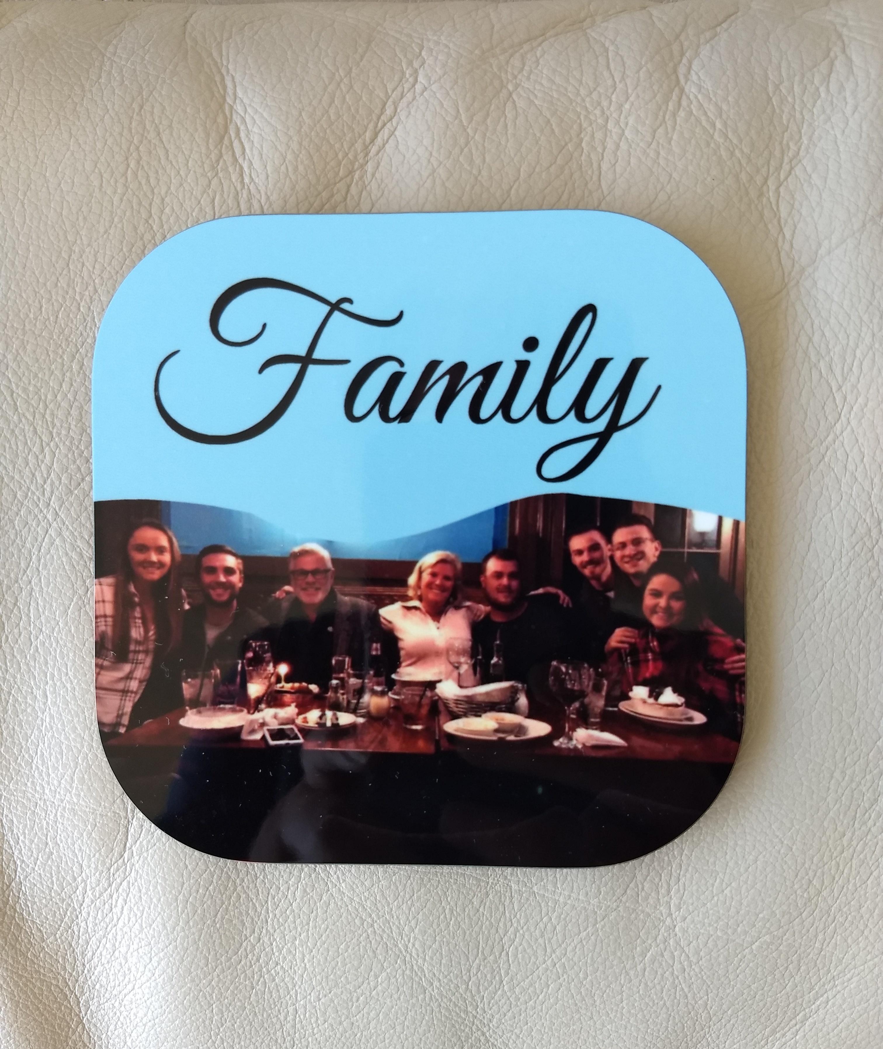 Personalized Family portrait coaster