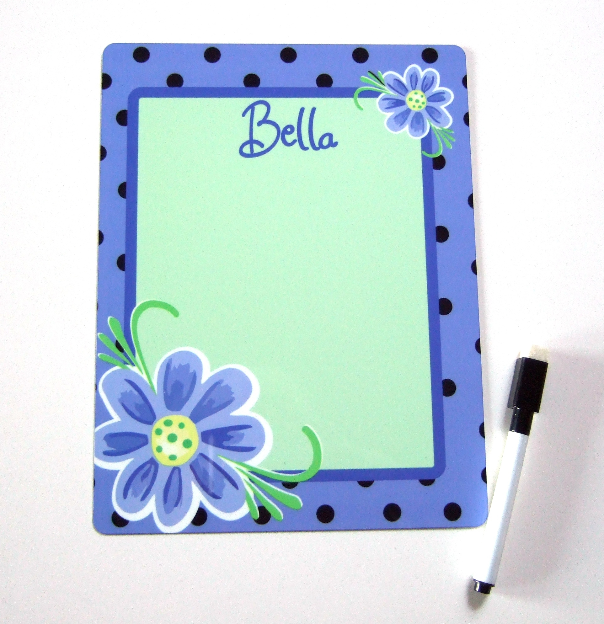 Abstract flower personalized dry erase board DEB1017