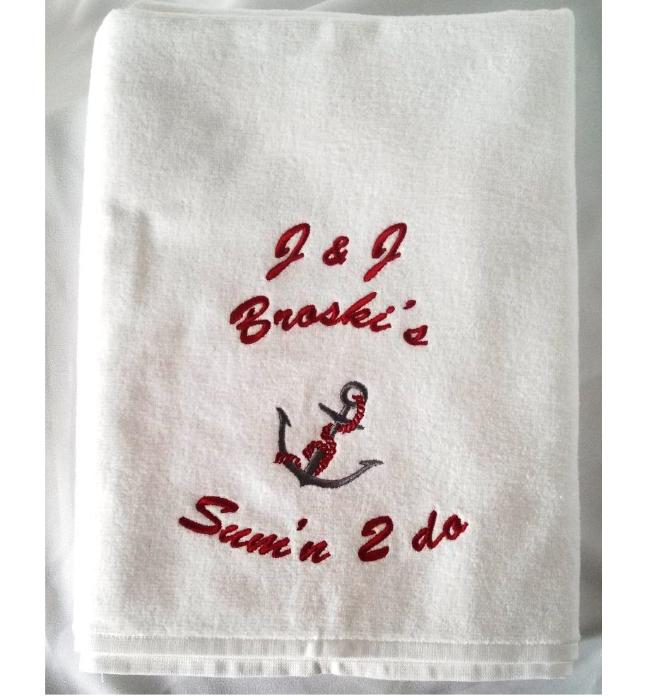 Custom monogrammed boat towels