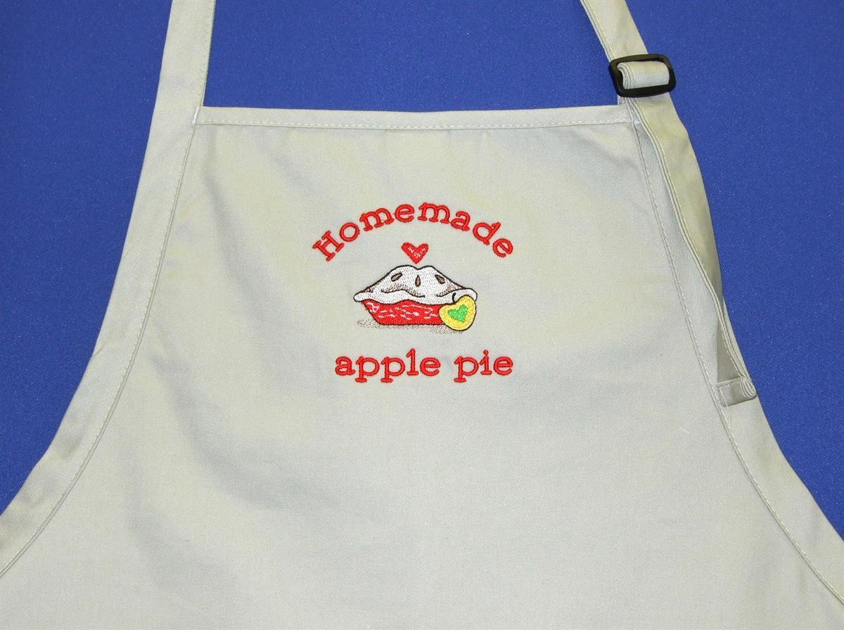 Homemade apple pie apron